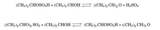 واکنش استرهای سولفات با ایزوپروپیل الکل دی ایزوپروپیل اتر